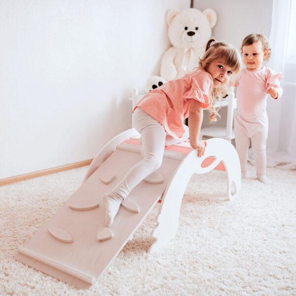 White Climbing toys for toddlers - Kletterspielzeug weiss für Kleinkinder