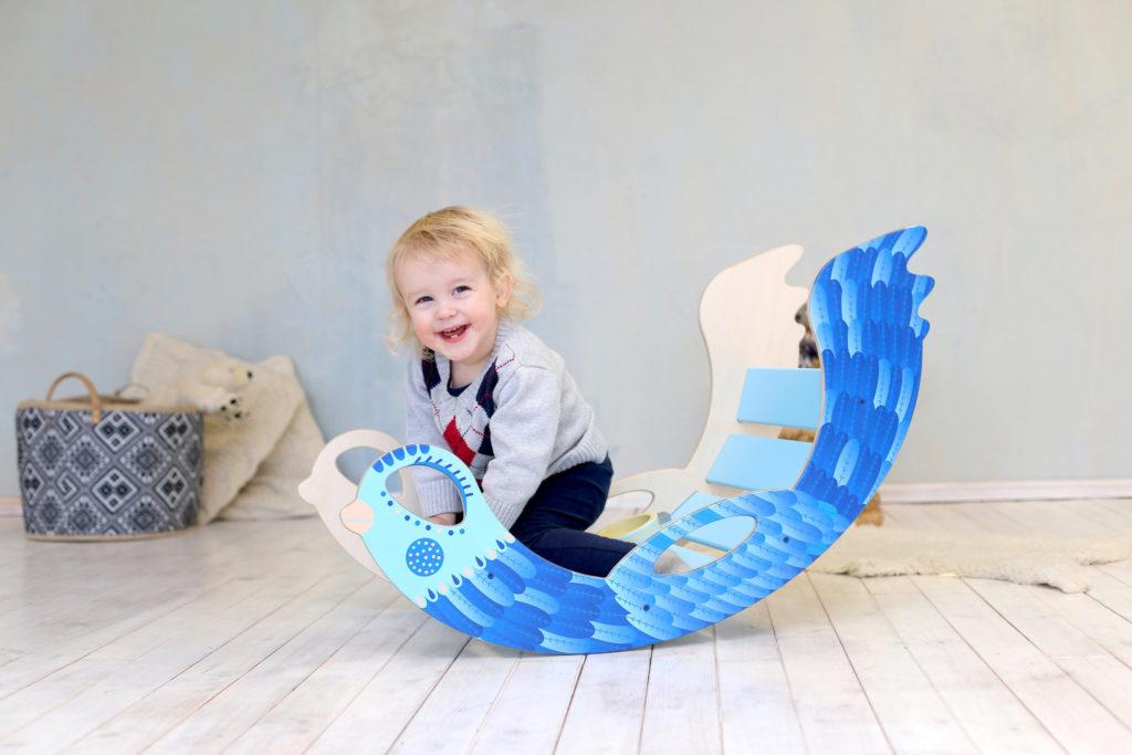 rocking toy icebird - Schaukeltier Eisvogel