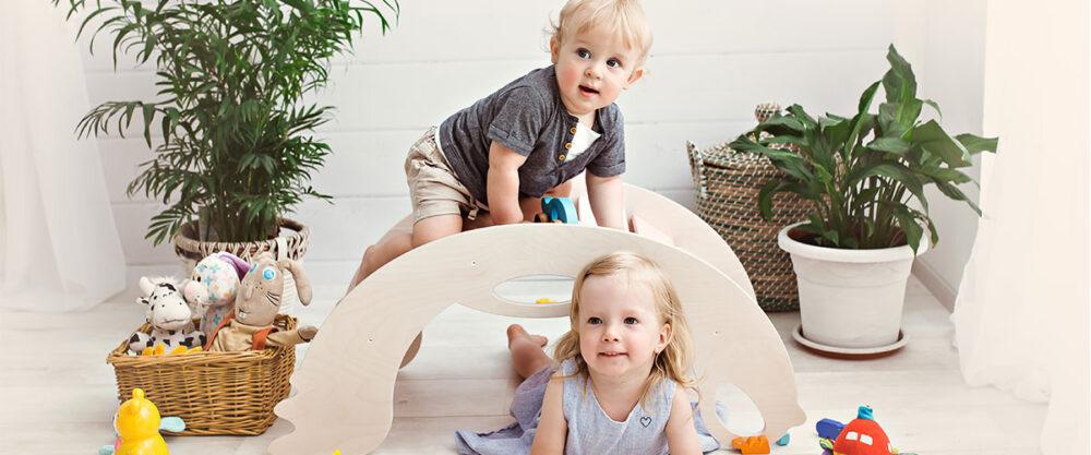 climbing toys for toddlers - Kletterbogen Holzspielzeug für Kleinkinder