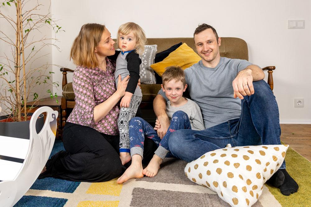 Regenbogen-Schaukel-Familie von Nobsi