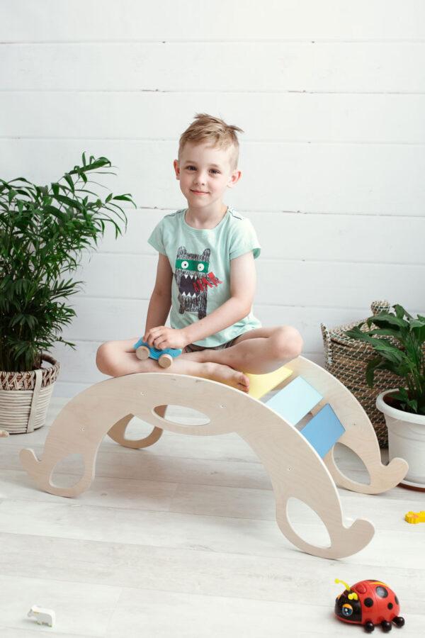 rocking toy jumbo rainbow - Schaukelelefant Jumbo Regenbogenwippe