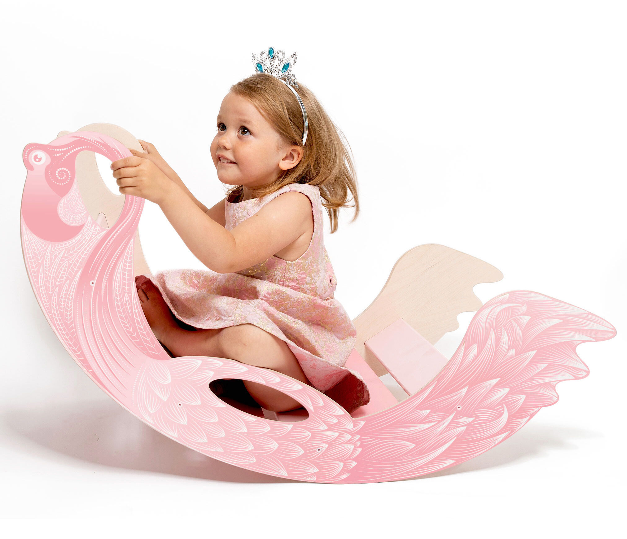 rainbow rocker flamingo