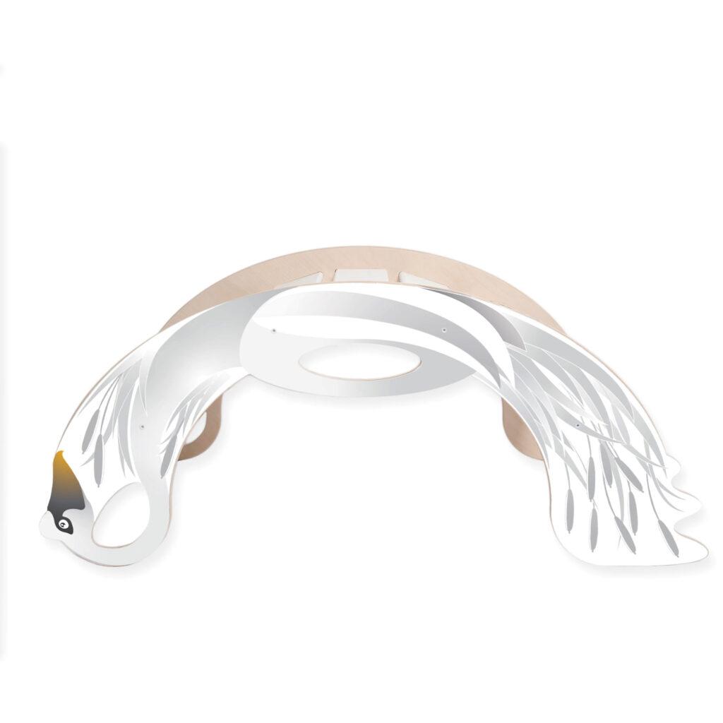 rainbow rocker swan