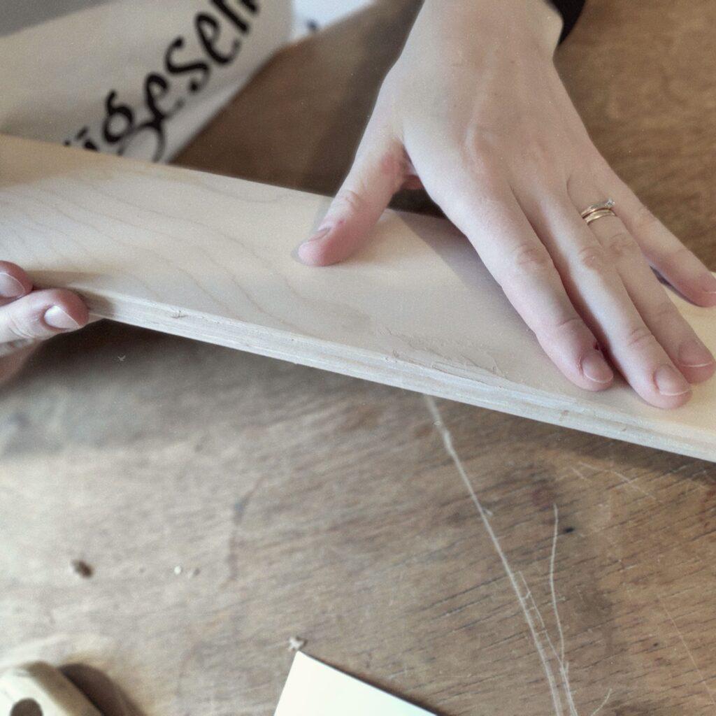 preparing the laths - vorbereiten der Leisten
