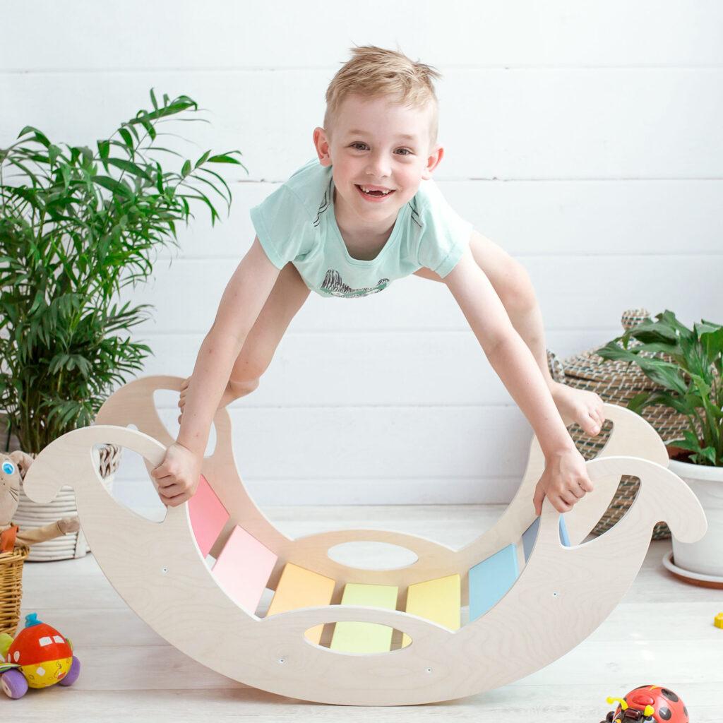 Rocking Toy jumbo balance board - Schaukelelefant Jumbo Regenbogenwippe als Balancierbrett