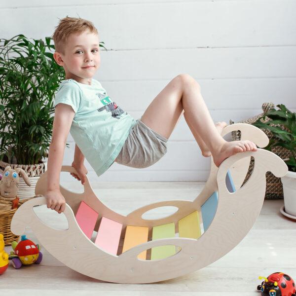 Rocking Toys for 2 year old - Schaukelelefant Jumbo Regenbogenwippe für 2-jährige