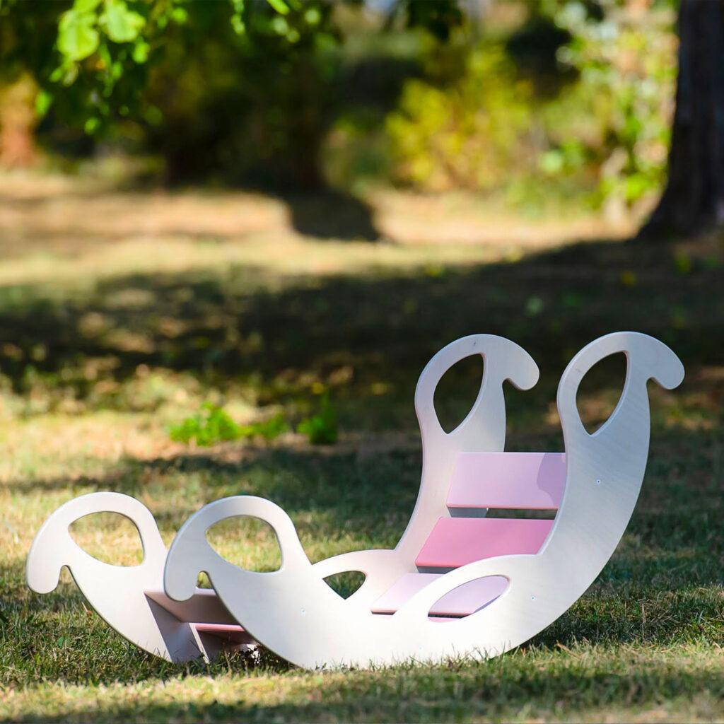 rocker toy jumbo pink - Schaukelelefant Holz pink