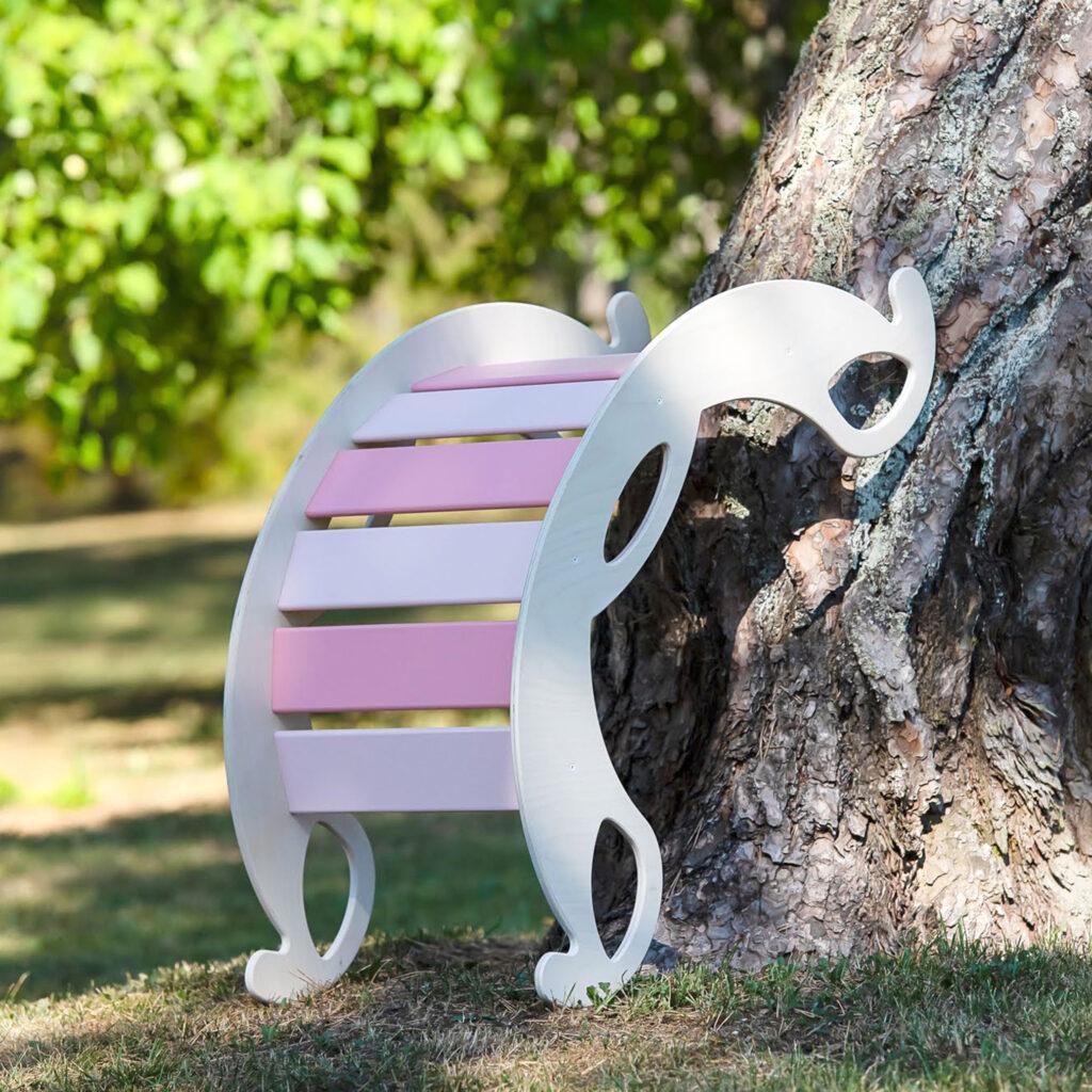 rocker toy jumbo pink - Schaukelelefant Holz pink als Kletterbogen