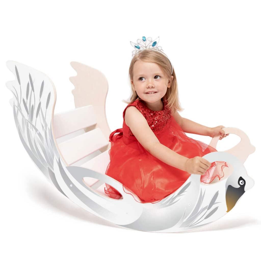 rocking toy swan - Bogenwippe Schwan Schaukeltier