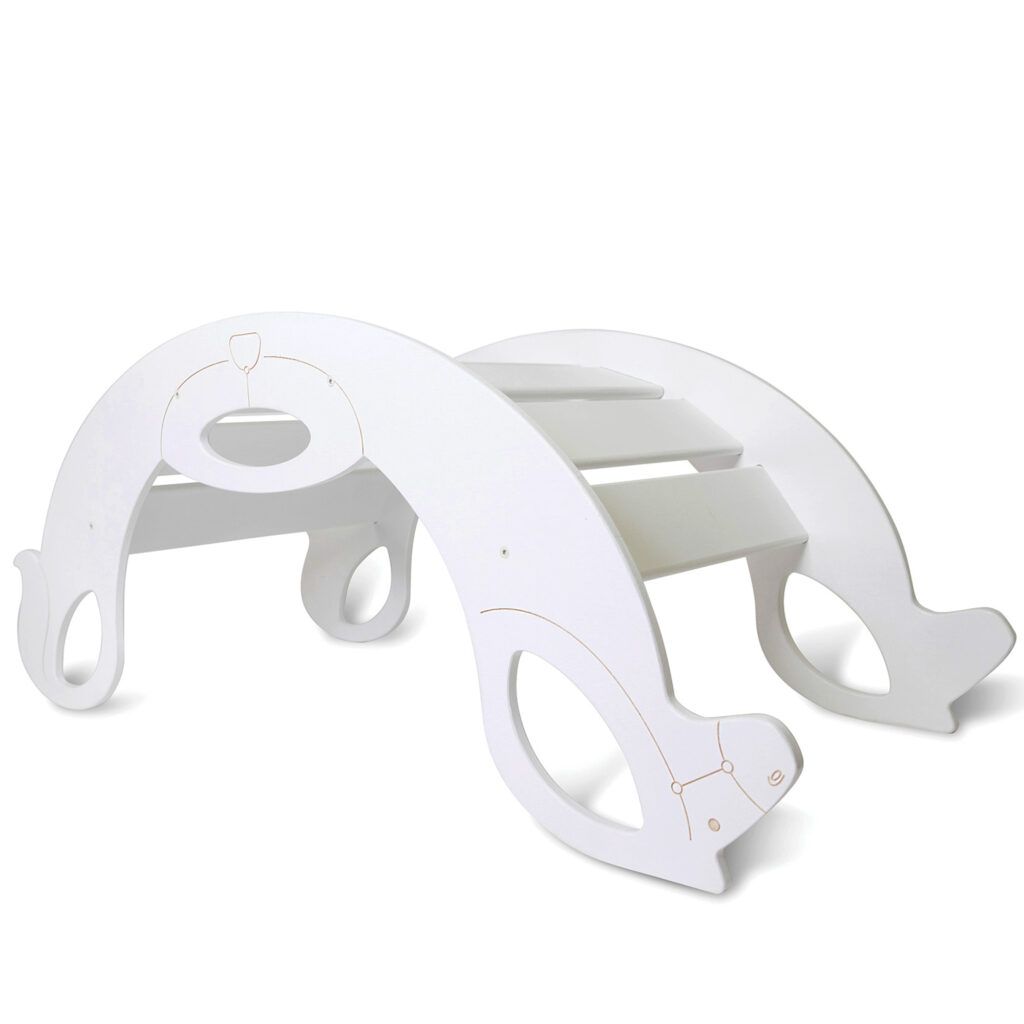 rocking horse white