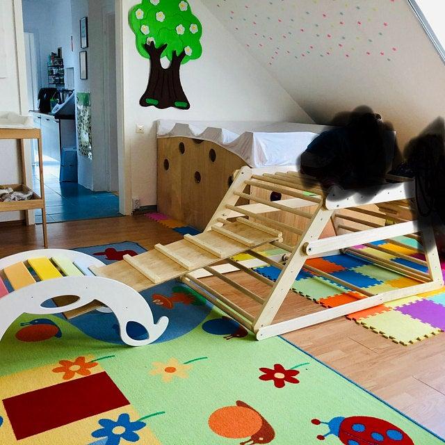 rainbow climbing toy review - Regenbogenwippe als Kletterbogen