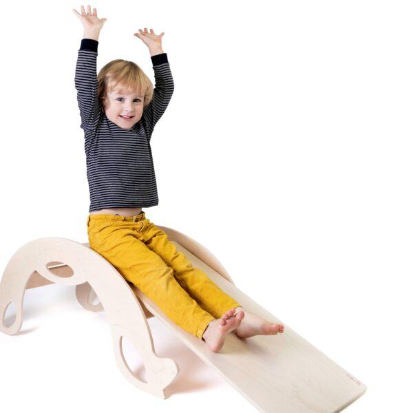 natural slide board for toddlers - Naturholz Rutschbrett für Kleinkinder, Zubehör für Nobsi Schaukelpferd