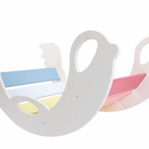 rocking toy for toddler birdie_rainbow_white - Schaukeltier Birdie Regenbogenwippe, Seiten weiss