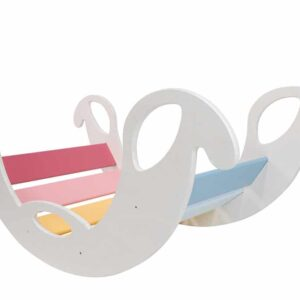 rocking toy for toddler jumbo_rainbow_white - Schaukelelefant Jumbo Regenbogenwippe, Seiten weiss