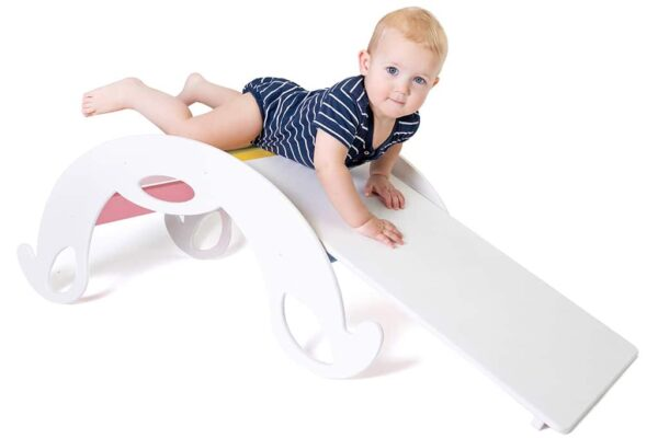 with slide board for kids - Rutschbrett weiss für Kinder