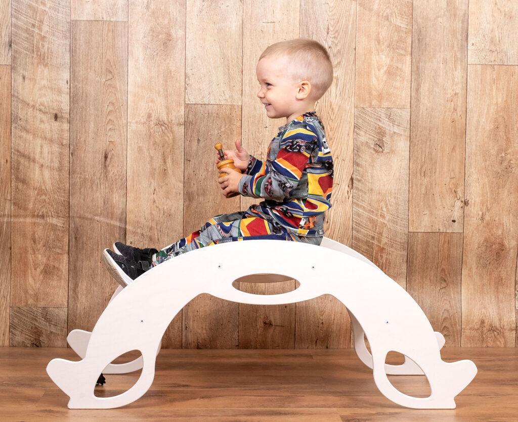 rocking horse white - Schaukelpferd weiss für Babys