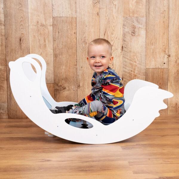 rocker toy birdie white - Holz-Schaukeltier Birdie weiss für Baby und Kleinkind