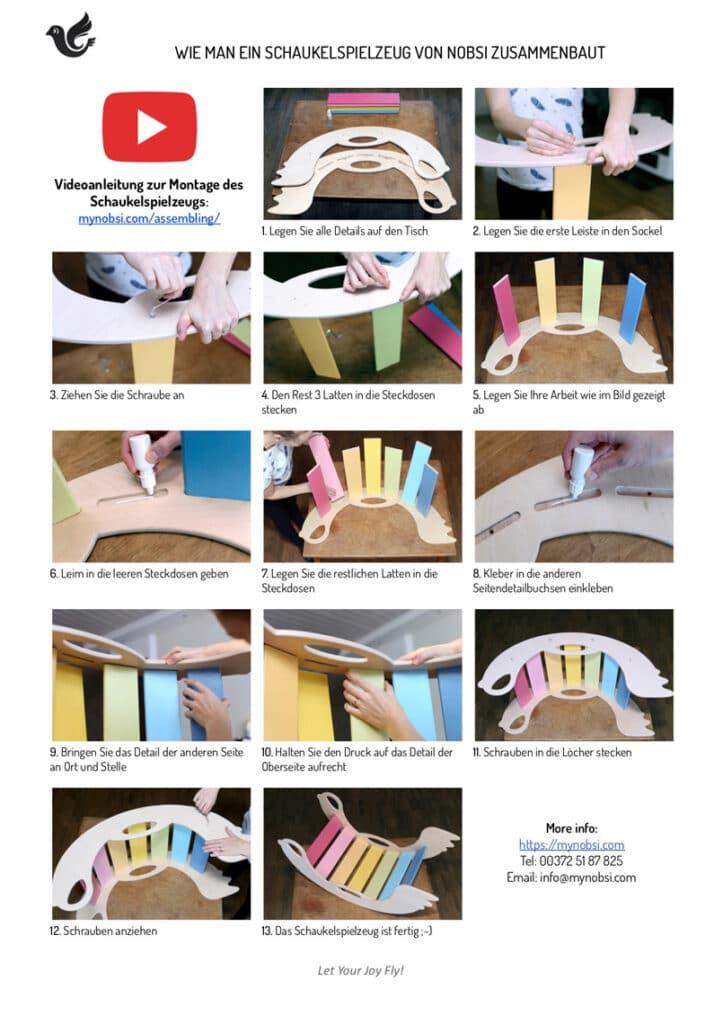 Nobsi Schaukeltier-Zusammenbau - die Schritte