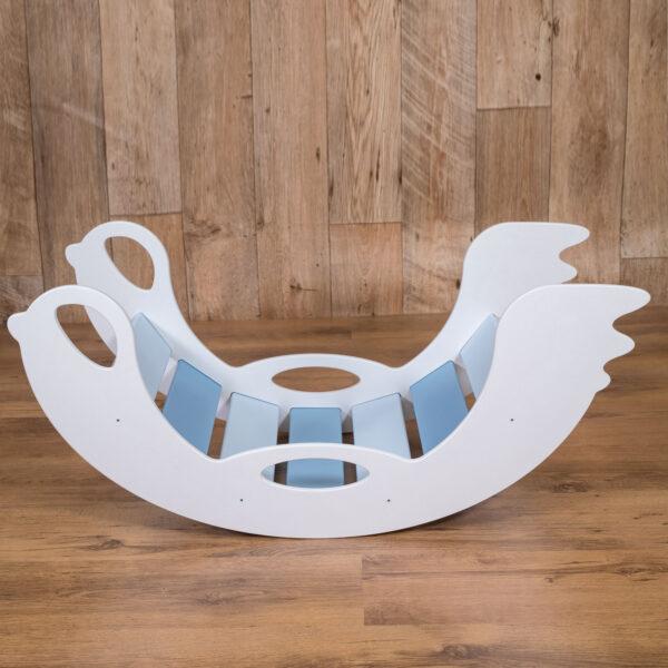rocker toy birdie blue - Schaukeltier Birdie blau, Holzspielzeug für Kleinkinder   WEISS