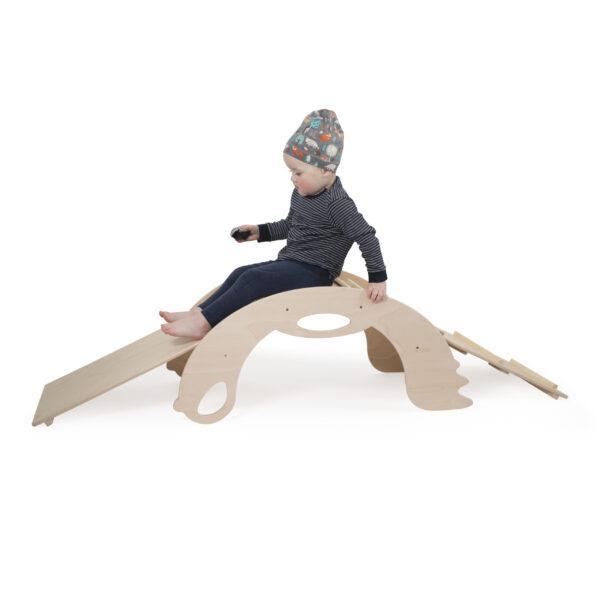 Natural Climbing and Sliding toy for toddlers - Naturholz Kletter- und Schiebespielzeug für Kleinkinder