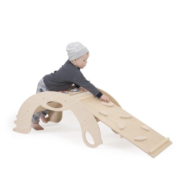 "Natural Climbing toys ""mountain climber"" for toddlers - Naturholz Kletterbrett ""Bergsteiger"" für Kleinkinder"