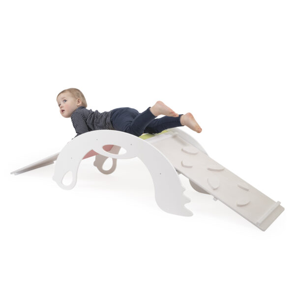 White Climbing and Sliding toy for toddlers