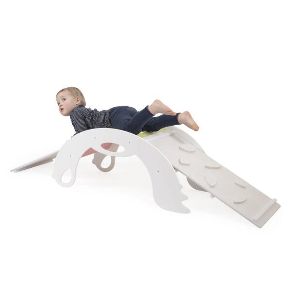 White Climbing and Sliding toy for toddlers - Weißes Kletter- und Rutsch-Spielzeug für Kleinkinder