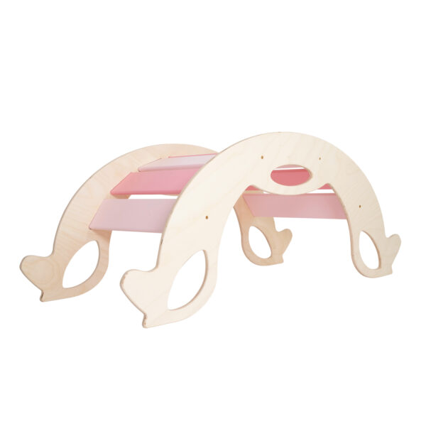 Pink Wooden Horse Rocker - Schaukelpferd pink für Babys