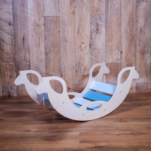Blue Wooden Horse Rocker - Holzschaukelpferd blau für Babys