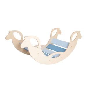 Blue Wooden Horse Rocker - Schaukelpferd blau für Babys