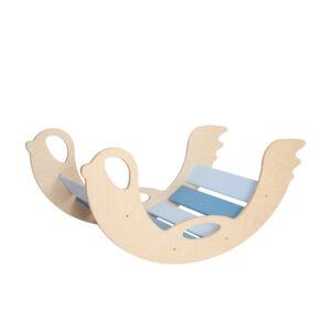 rocking toy birdie blue - Holz-Schaukeltier Birdie blau natural